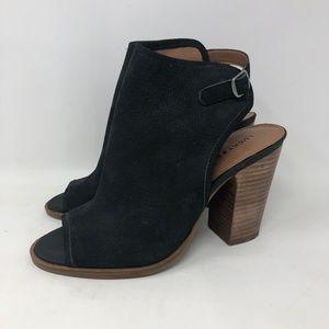 Lucky Brand Lisza Peeptoe Ankle Booties 8.5